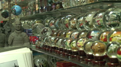 Chinese souvenirs, Pearl Market, Beijing - stock footage