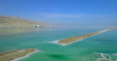 Solt, Dead Sea - aerial shot Stock Footage