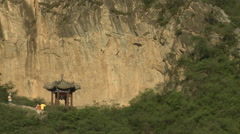 Fertility Pavilion, Cuandixia Village, China Stock Footage
