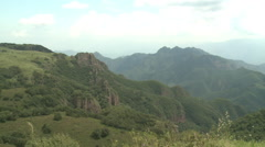 Grassy mountains, China countryside Stock Footage