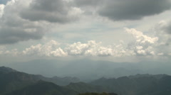 Fast clouds over Chinese mountains Stock Footage