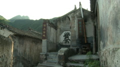 Old buildings, Cuandixia Village, China Stock Footage