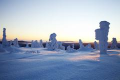 Winter in Lapland Finland - stock photo
