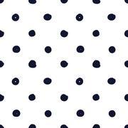 Hand drawn seamless indigo irregular dot texture Stock Illustration