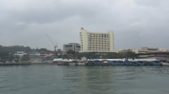 Waterfront Kota Kinabalu Bird Stock Footage