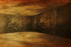 Corner of old dirty interior Stock Illustration