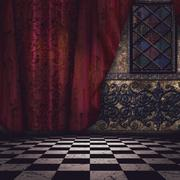 Gothic interior Stock Illustration