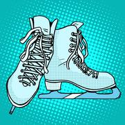 Skates winter sports - stock illustration