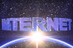Internet word - stock illustration