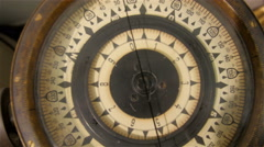 Aerial view of the compass with numebrs Stock Footage