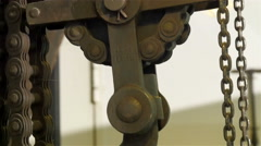 Big chains or anchor chains in the ship - stock footage