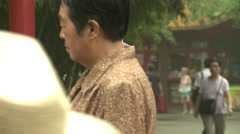 Chinese people in park, Beijing, China Stock Footage