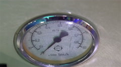 A speedometer on a wall in the room Stock Footage