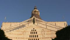 The basilica of annunciation in Nazareth Stock Footage