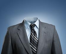 Businessman without head - stock photo