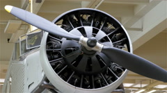 A big airjet propeller in a display Stock Footage