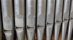 A steel organ in Orel church in Russia Stock Footage