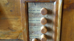 The wooden organ with the different voice range Stock Footage