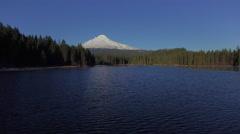 Aerial Oregon Mt Hood - stock footage