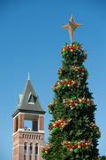 Stock Photo of rock hill south carolina downtown during christmas season