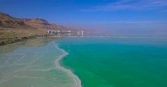 Dead Sea, Hotels, Resort Stock Footage