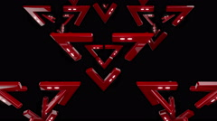 Red Delta Flash Triangle 4K VJ Loops 03 Stock Footage
