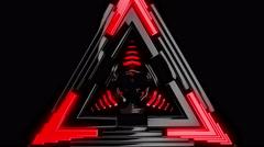 Red Delta Flash 4K VJ Loop 02 Stock Footage