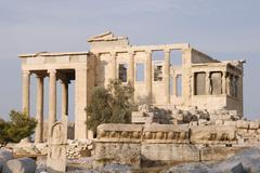 Erechtheion - part of Acropolis in Athens Stock Photos