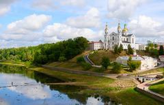 Holy Dormition Cathedral on the Uspenskaya mountain, Vitebsk - stock photo