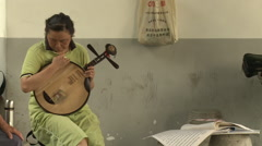 Chinese musical instruments, Beijing, China Stock Footage