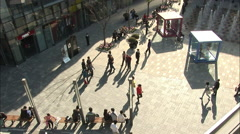 Chinese shopping, upmarket mall, Beijing Stock Footage