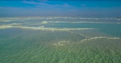 Dead Sea,solt, Jordan -  aerial shot Stock Footage