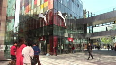 Puma and Mango stores, Beijing, China Stock Footage