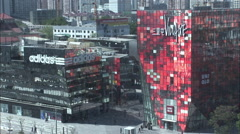 Sanlitun shopping mall, modern Beijing - stock footage