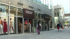 Benetton shop in China, young Chinese people Stock Footage