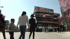 Family shopping, Chinese mall, Beijing Stock Footage