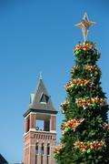 Stock Photo of rock hill south carolina downtown during christmas season