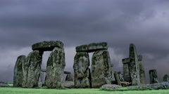 Stonehenge with cloud time lapse.  - stock footage