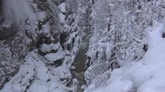 River landslide of snow - stock footage