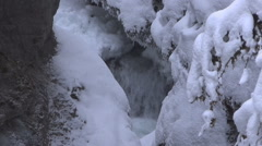 Underground River Winter Stock Footage