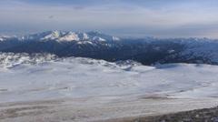 Alpine meadows zone Stock Footage