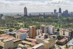 Downtowm Nairobi - stock photo
