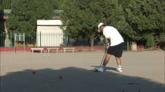 Croquet in the park, Beijing, China - stock footage