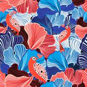 Abstract pattern and bird lovers Stock Illustration