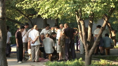 Chinese checkers match in park, Beijing Stock Footage
