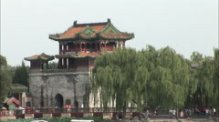 Summer Palace, traditional Chinese building Stock Footage