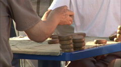 Chinese chekcers game in park, Beijing, China Stock Footage