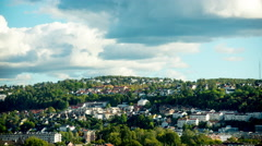 Time Lapse of Green Oslo Hillside -  Oslo Norway Europe Stock Footage