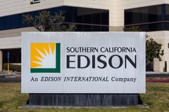 Stock Photo of Southern California Edison Sign and Logo