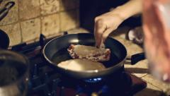 Cooking panzerotti frying Stock Footage